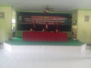upacara pembukaan Diklat Kepemimipinan TK.IV  Angkatan 155 Prov Jatim Di Kab. Blitar